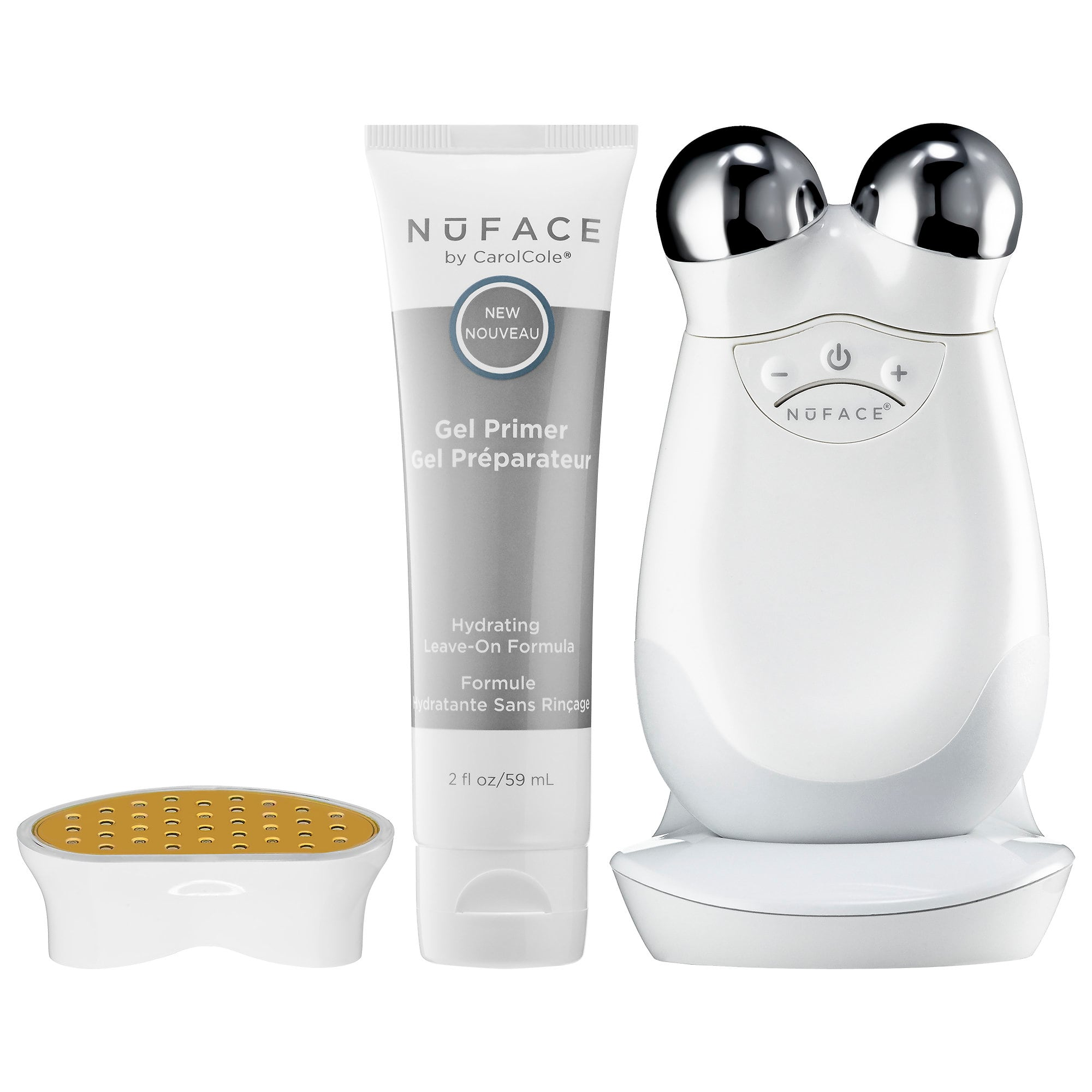 Trinity Facial Toning Device + Wrinkle Reducer Attachment Bundle